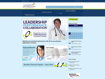 United Physicians website design
